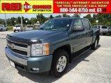 2007 Blue Granite Metallic Chevrolet Silverado 1500 LT Z71 Crew Cab 4x4 #34643882
