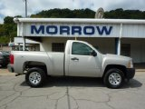2008 Silver Birch Metallic Chevrolet Silverado 1500 Work Truck Regular Cab 4x4 #34643208