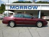2001 Dark Carmine Red Metallic Chevrolet Impala  #34643211