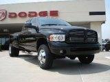 2004 Black Dodge Ram 3500 Laramie Quad Cab 4x4 Dually #34643644