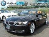 2008 Jet Black BMW 3 Series 335i Convertible #34643046