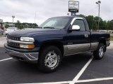 2000 Indigo Blue Metallic Chevrolet Silverado 1500 LS Regular Cab 4x4 #34736695