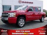2009 Victory Red Chevrolet Silverado 1500 LT Crew Cab #34736613