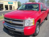 2009 Victory Red Chevrolet Silverado 1500 LS Extended Cab #34736512