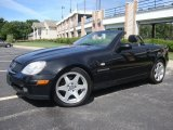 Obsidian Black Metallic Mercedes-Benz SLK in 2000