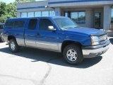 2003 Arrival Blue Metallic Chevrolet Silverado 1500 Z71 Extended Cab 4x4 #34800095