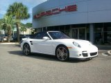 2008 Carrara White Porsche 911 Turbo Cabriolet #34851512