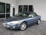 2002 Steel Blue Pearl Chrysler Sebring Limited Convertible #34850975