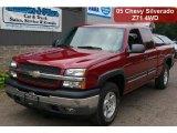 2005 Sport Red Metallic Chevrolet Silverado 1500 Z71 Extended Cab 4x4 #34851252