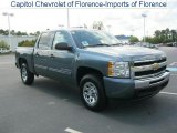 2010 Blue Granite Metallic Chevrolet Silverado 1500 LS Crew Cab #34851868