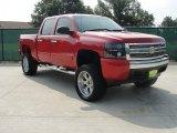 2007 Victory Red Chevrolet Silverado 1500 LS Crew Cab 4x4 #34851271