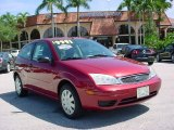 2005 Sangria Red Metallic Ford Focus ZX3 S Coupe #34851090