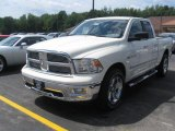 2010 Stone White Dodge Ram 1500 Big Horn Quad Cab 4x4 #34924147