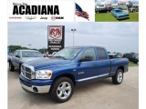 2008 Electric Blue Pearl Dodge Ram 1500 Big Horn Edition Quad Cab #34923717
