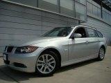 2007 Titanium Silver Metallic BMW 3 Series 328xi Wagon #34923524