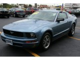 2005 Windveil Blue Metallic Ford Mustang V6 Deluxe Coupe #34924071