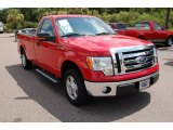 2010 Vermillion Red Ford F150 XLT Regular Cab #34923813