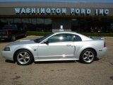 2002 Satin Silver Metallic Ford Mustang GT Coupe #34994684