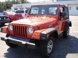 2006 Impact Orange Jeep Wrangler X 4x4 #35054409