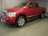 2007 Inferno Red Crystal Pearl Dodge Ram 1500 Laramie Quad Cab 4x4 #35054933