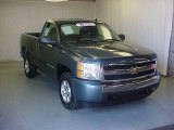 2007 Blue Granite Metallic Chevrolet Silverado 1500 LS Regular Cab #35055094