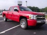 2010 Victory Red Chevrolet Silverado 1500 LS Crew Cab #35054831