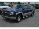 2004 Arrival Blue Metallic Chevrolet Silverado 1500 Z71 Extended Cab 4x4 #35126697