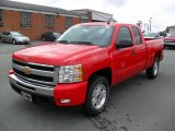 2011 Victory Red Chevrolet Silverado 1500 LT Extended Cab 4x4 #35126734