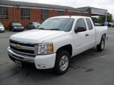 2011 Summit White Chevrolet Silverado 1500 LT Extended Cab #35126735