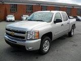 2010 Sheer Silver Metallic Chevrolet Silverado 1500 LT Crew Cab #35126747