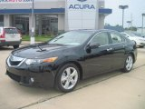 2010 Crystal Black Pearl Acura TSX Sedan #35163705