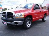 2006 Flame Red Dodge Ram 1500 ST Regular Cab #35177389