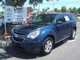 2010 Navy Blue Metallic Chevrolet Equinox LS #35177464