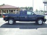 2011 Imperial Blue Metallic Chevrolet Silverado 1500 LTZ Extended Cab 4x4 #35177704