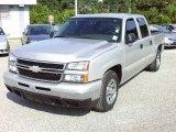 2006 Silver Birch Metallic Chevrolet Silverado 1500 LS Crew Cab #35178117
