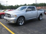 2010 Bright Silver Metallic Dodge Ram 1500 Big Horn Quad Cab 4x4 #35222317