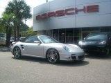 2008 Arctic Silver Metallic Porsche 911 Turbo Cabriolet #35222157