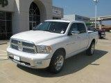 2011 Bright White Dodge Ram 1500 Laramie Crew Cab 4x4 #35222166
