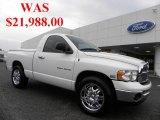 2005 Bright White Dodge Ram 1500 SLT Regular Cab #35221912