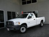 2008 Bright White Dodge Ram 1500 ST Regular Cab #35221744
