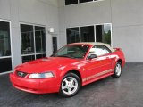 2002 Torch Red Ford Mustang V6 Convertible #35221745