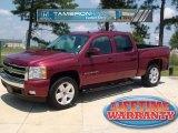 2008 Deep Ruby Metallic Chevrolet Silverado 1500 LT Crew Cab #35222517