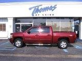 2007 Sport Red Metallic Chevrolet Silverado 1500 LT Z71 Crew Cab 4x4 #35222244