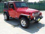 2006 Flame Red Jeep Wrangler Sport 4x4 #35222006