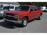 2003 Victory Red Chevrolet Silverado 1500 Z71 Extended Cab 4x4 #35283783