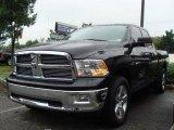 2010 Brilliant Black Crystal Pearl Dodge Ram 1500 Big Horn Quad Cab 4x4 #35283454