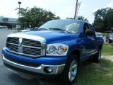 2008 Electric Blue Pearl Dodge Ram 1500 Big Horn Edition Quad Cab #35283197