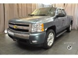 2007 Blue Granite Metallic Chevrolet Silverado 1500 LT Extended Cab 4x4 #35282958