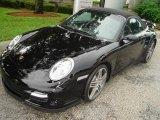 2008 Black Porsche 911 Turbo Cabriolet #351932