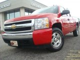 2007 Victory Red Chevrolet Silverado 1500 LT Extended Cab 4x4 #35283006